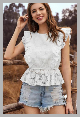 ALISO <br>Lace Sleeveless Blouse <br> YesStyle<br><span style='text-align: center;'>$13.52 yesstyle.com</span>