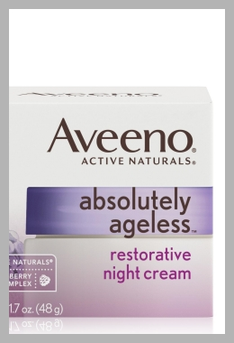 Aveeno Absolutely Ageless Restorative Facial Anti-Aging Night Cream - 1.7oz<br><span style='text-align: center;'>$18.79 target.com</span>
