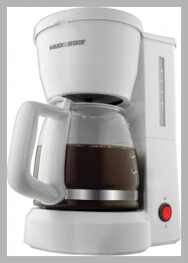 BLACK and DECKER 5-Cup Coffee Maker, DCM600W<br><span style='text-align: center;'>$23.78 walmart.com</span>