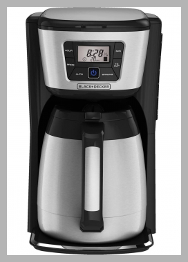 BLACK DECKER 12-Cup Programmable Coffee Maker with Thermal Carafe, CM2035B Price Rank ( 56 )
