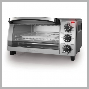 BLACK+DECKER 4-Slice Toaster Oven, TO1755SB<br><span style='text-align: center;'>$32.92 walmart.com</span>