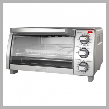 Black and decker 4 Slice Toaster Oven - Stainless Steel<br><span style='text-align: center;'>$39.99 target.com</span>