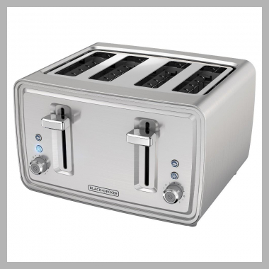 Black and decker 4 Slice Toaster - Stainless Steel (Silver)<br><span style='text-align: center;'>$39.99 target.com</span>