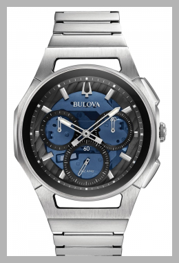 Bulova Men`s Chronograph Curv Stainless Steel Bracelet Watch<br><span style='text-align: center;'>$985.50 macys.com</span>
