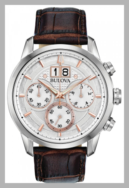 Bulova Men`s Chronograph Sutton Brown Leather Strap Watch 44mm<br><span style='text-align: center;'>$334.12 macys.com</span>