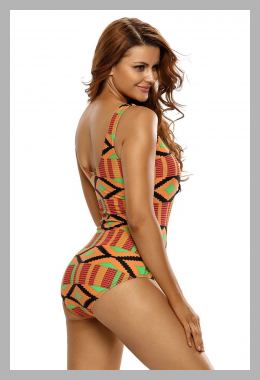 Cali Chic Juniors` Swimsuit Celebrity Stylish Multicolor Print Lace Up V Neck Teddy Swimwear<br><span style='text-align: center;'>$14.99 walmart.com</span>
