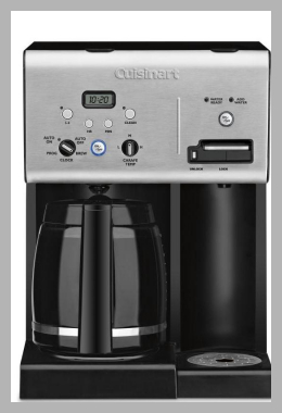 Cuisinart Coffee Makers Coffee Plus™ 12 Cup Programmable Coffeemaker plus Hot Water System<br><span style='text-align: center;'>$101.91 walmart.com</span>