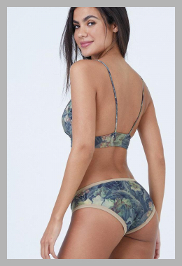 Dana The Delinquent Triangle Bikini Top - Everglade Tan Floral Print<br><span style='text-align: center;'>$70.99 bikini.com</span>