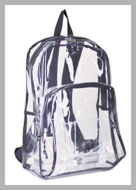 Eastsport Two Compartment PVC Plastic Clear Backpack Price Rank ( 12 )