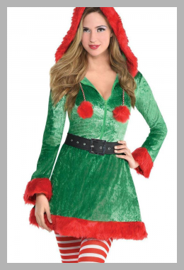 Halloween Sassy Elf Women`s Costume Green L (10-12) - Amscan, Women`s, Size: Large, MultiColored<br><span style='text-align: center;'>$32.99 target.com</span>