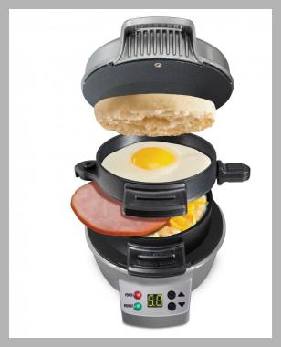Hamilton Beach Breakfast Sandwich Maker with Timer - Dark Gray 25478<br><span style='text-align: center;'>$24.99 target.com</span>