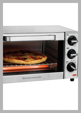 Hamilton Beach 4 Slice Toaster Oven - Stainless Steel 31401<br><span style='text-align: center;'>$51.99 target.com</span>