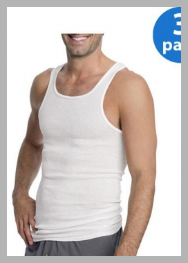 Hanes Mens ComfortSoft White Tagless Tank 3-Pack<br><span style='text-align: center;'>$11.16 walmart.com</span>