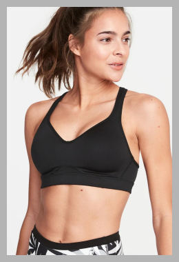 High Support Racerback Sports Bra for Women<br><span style='text-align: center;'>$25.00 gap.com</span>