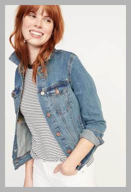 Jean Jacket For Women<br><span style='text-align: center;'>$34.00 gap.com</span>