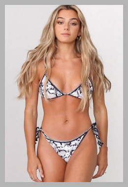 Leopard Snakeskin Whip Stitch Tie String Bikini Swimsuit<br><span style='text-align: center;'>$13.99 zaful.com</span>
