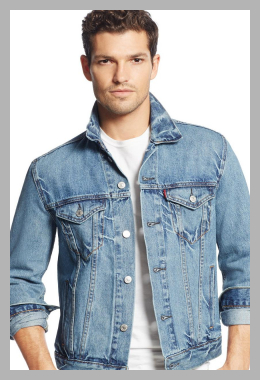 Levi`s <br>Men`s Denim Trucker Jacket<br><span style='text-align: center;'>$69.99 macys.com</span>