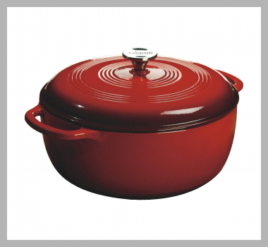 Lodge 6qt Cast Iron Enamel Dutch Oven Red<br><span style='text-align: center;'>$69.90 target.com</span>