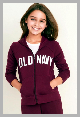 Logo-Applique Zip Hoodie for Girls<br><span style='text-align: center;'>$20.00 gap.com</span>