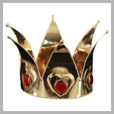 Mini Queen of Hearts Costume Accessory Crown Adult: Gold<br><span style='text-align: center;'>$31.61 walmart.com</span>