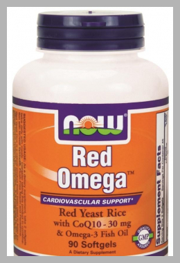 NOW Foods - Red Omega Red Yeast Rice With CoQ10 30 mg.  - 90 Softgels Price Rank ( 60 )