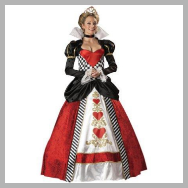 Queen of Hearts Adult Halloween Costume<br><span style='text-align: center;'>$125.55 walmart.com</span>