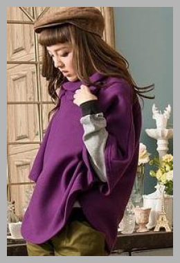 RingBear <br>Brushed-Fleece Cape Top <br> YesStyle<br><span style='text-align: center;'>$23.04 yesstyle.com</span>