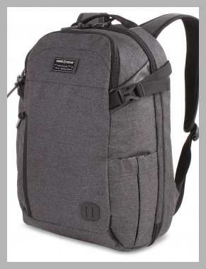 ``SWISSGEAR Getaway 18```` Weekend Laptop Backpack - Heather Gray, Black``<br><span style='text-align: center;'>$54.99 target.com</span>