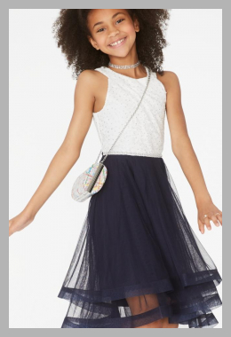 Speechless Big Girls Glitter Lace-Bodice Dress<br><span style='text-align: center;'>$50.40 macys.com</span>
