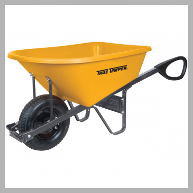 True Temper RP6TC14 6 cu ft Total Control Poly Wheelbarrow<br><span style='text-align: center;'>$134.21 walmart.com</span>