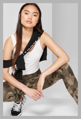 Women`s Camo Print High-Rise Leggings - Wild Fable Olive XL, Women`s, Green<br><span style='text-align: center;'>$14.00 target.com</span>