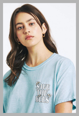 PS / LA Womens Save The Bees T-Shirt - Blue size Medium<br><span style='text-align: center;'>$15.60 pacsun.com</span>