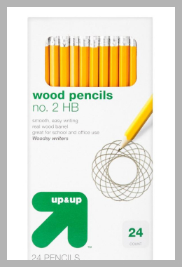 #2 Wood Pencils 24ct - up  up, Yellow<br><span style='text-align: center;'>$1.19 target.com</span>