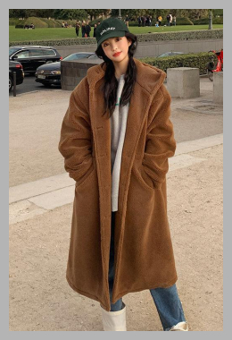 chuu <br>Hooded Sherpa-Fleece Coat <br> YesStyle<br><span style='text-align: center;'>$118.32 yesstyle.com</span>