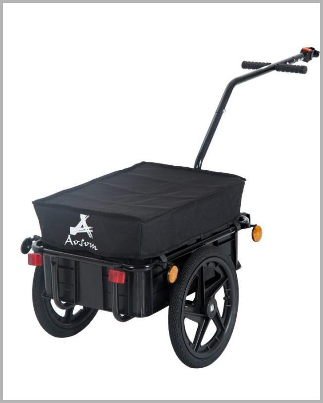Aosom Double Wheel Internal Frame Enclosed Bicycle Cargo Trailer - Black - Walmart.com Price Integrity Rank ( 12 )