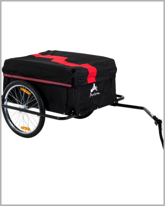 Aosom Elite Two-Wheel Bicycle Large Cargo Wagon Trailer with Oxford Fabric Folding Storage & Removable Cover Red - Walmart.com Price Integrity Rank ( 12 )