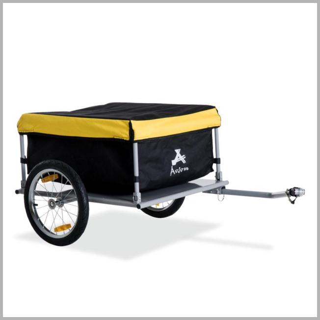 Aosom Elite Two-Wheel Bicycle Large Cargo Wagon Trailer with Oxford Fabric Folding Storage & Removable Cover Yellow - Walmart.com Price Integrity Rank ( 1 )