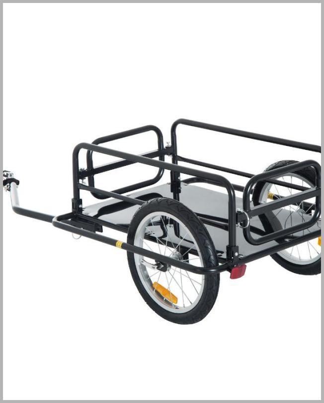Aosom Foldable Bike Cargo Trailer Bicycle Cart Wagon Trailer with Hitch Black - Walmart.com Price Integrity Rank ( 0 )