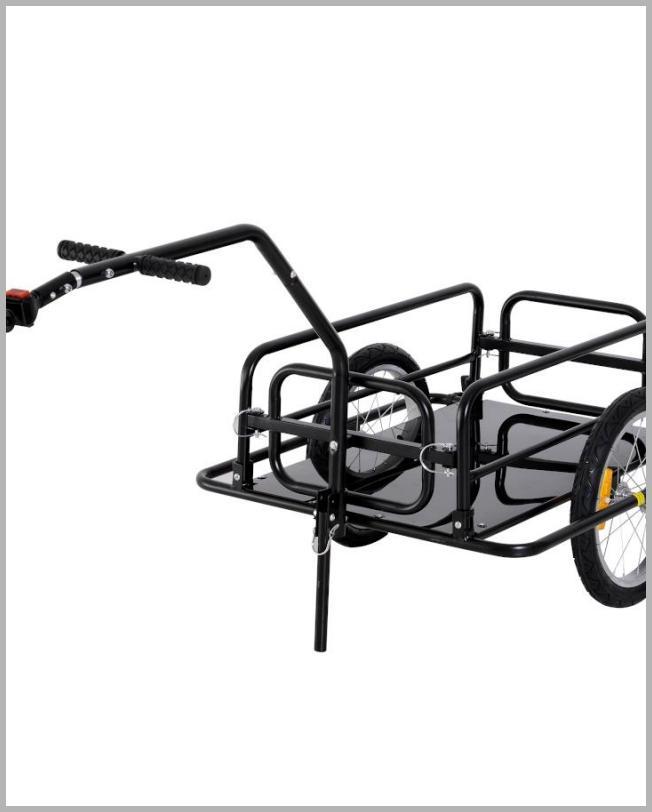 Aosom Folding Bike Cargo Trailer Cart with Seat Post Hitch- Black up to 88 lbs. - Walmart.com Price Integrity Rank ( 0 )