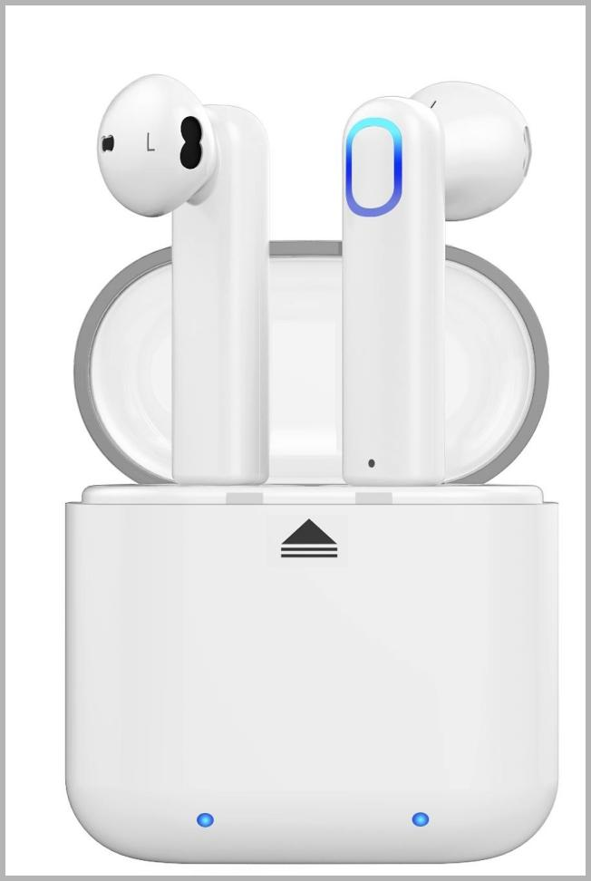 Bluetooth Wireless Stereo Earbuds Headphones, Noise Cancelling with Built-in Mic and Charging Case, Hands-free Calling Sweatproof In-Ear Headset Earphone Earpiece for iPhone/Android Smart Phones Price Integrity Rank ( 80 )