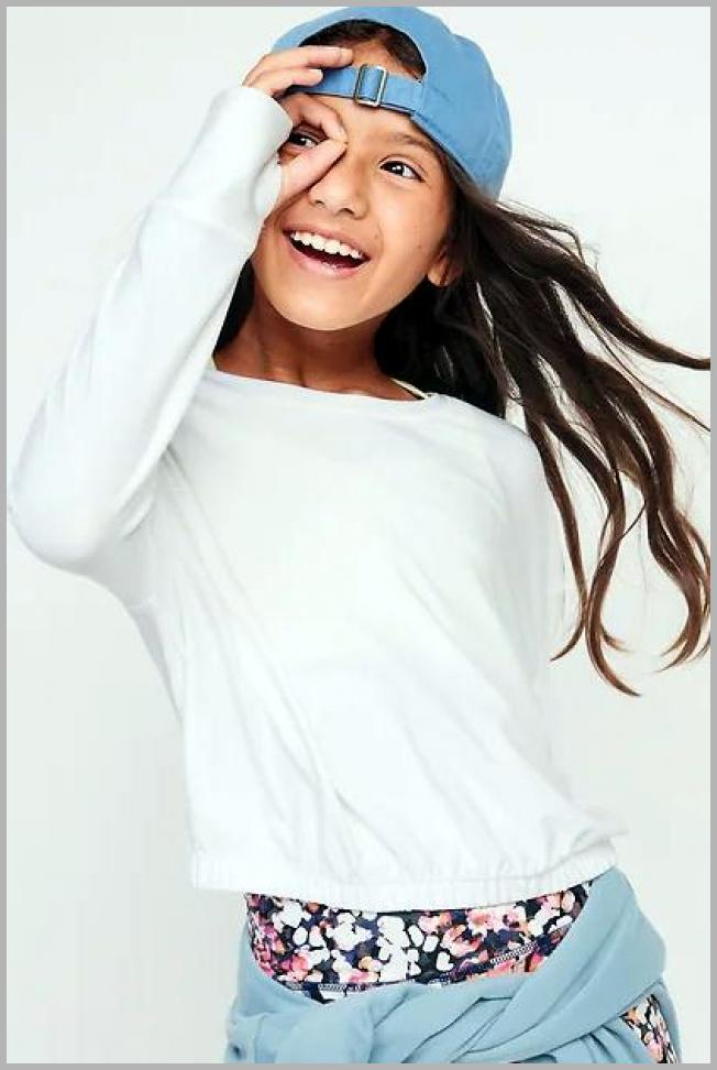 Breathe ON Cropped Cinched-Hem Long-Sleeve Top for Girls Price Integrity Rank ( 0 )
