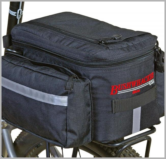 Bushwhacker® Mesa Trunk Bag Black W/ Rear Light Clip Attachment & Reflective Trim Bicycle Cycling Rack Pack Bike Accessory Luggage Pannier Insulated Cooler - Walmart.com Price Integrity Rank ( 0 )