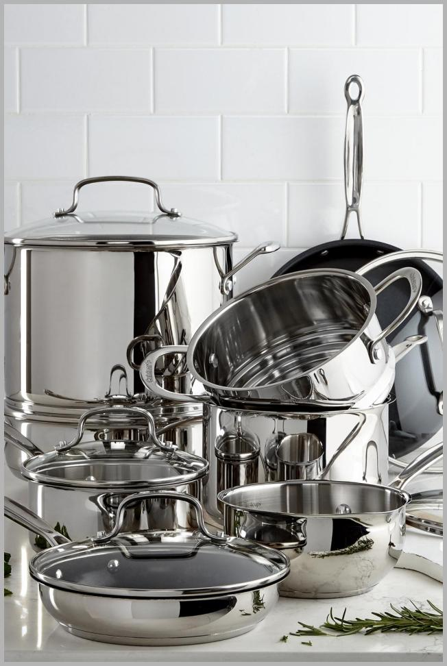 Cuisinart Chef`s Classic 14-Pc. Stainless Steel Cookware Set, Created for Macy`s Price Rank ( 12  )
