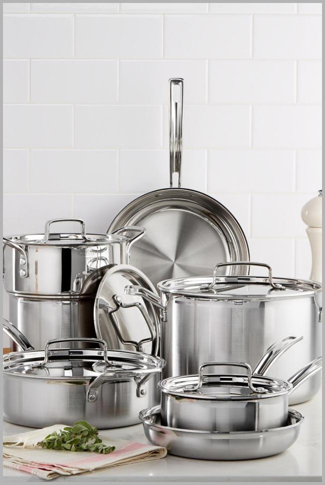 Cuisinart Multiclad Pro Tri-Ply Stainless Steel 12 Piece Cookware Set Price Rank ( 12  )