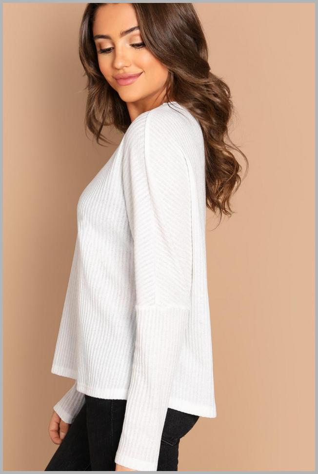 Dolman Sleeve Rib-Knit Tee Price Integrity Rank ( 0 )