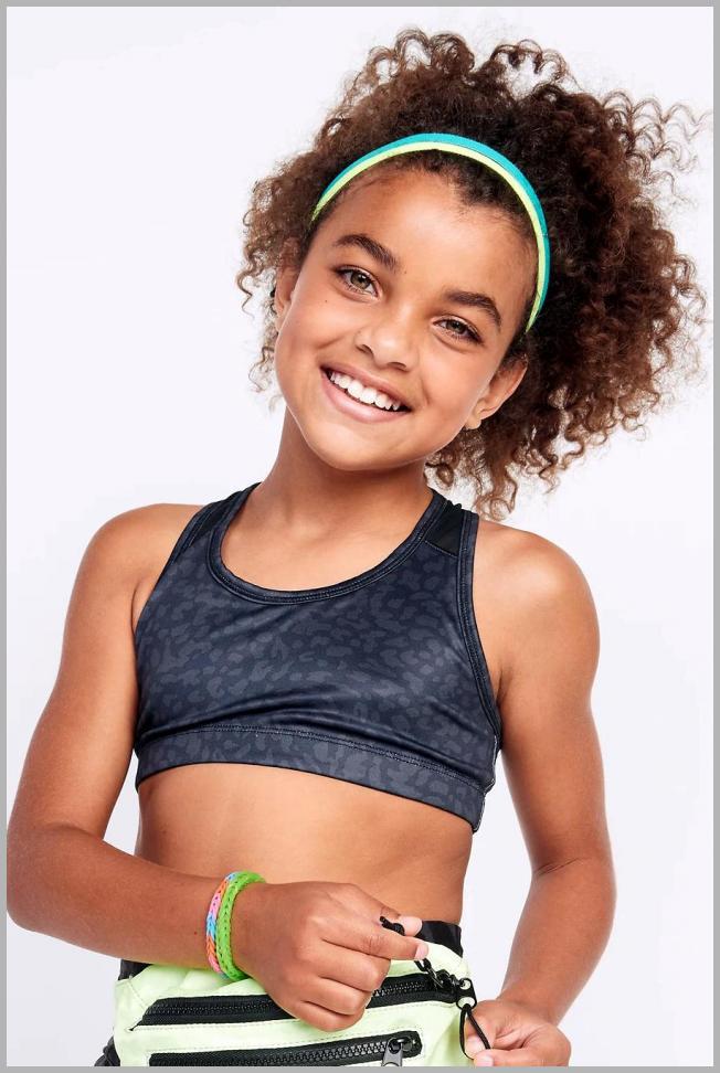 Go-Dry Printed Racerback Sports Bra for Girls Price Integrity Rank ( 20 )