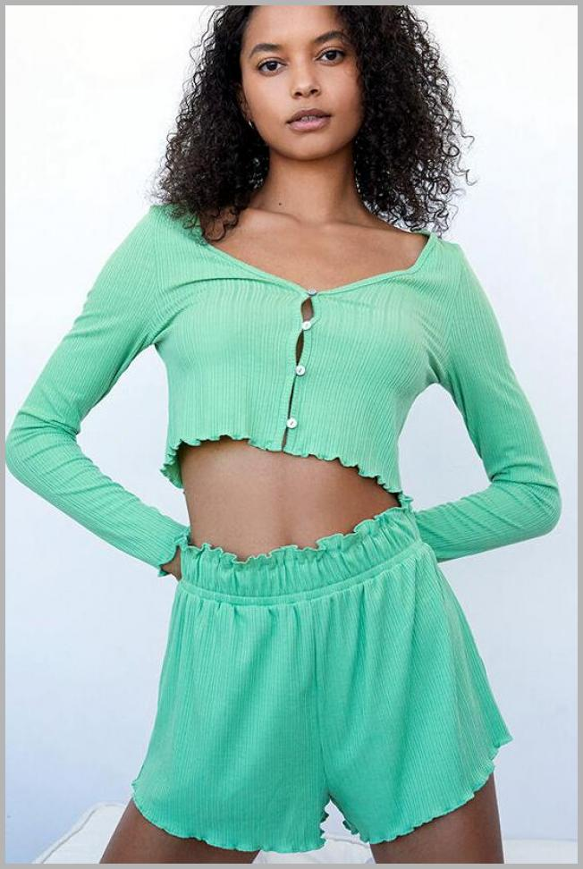 LA Hearts by PacSun Womens Julie Lounge Shorts - Green size Small Price Rank ( 14  )