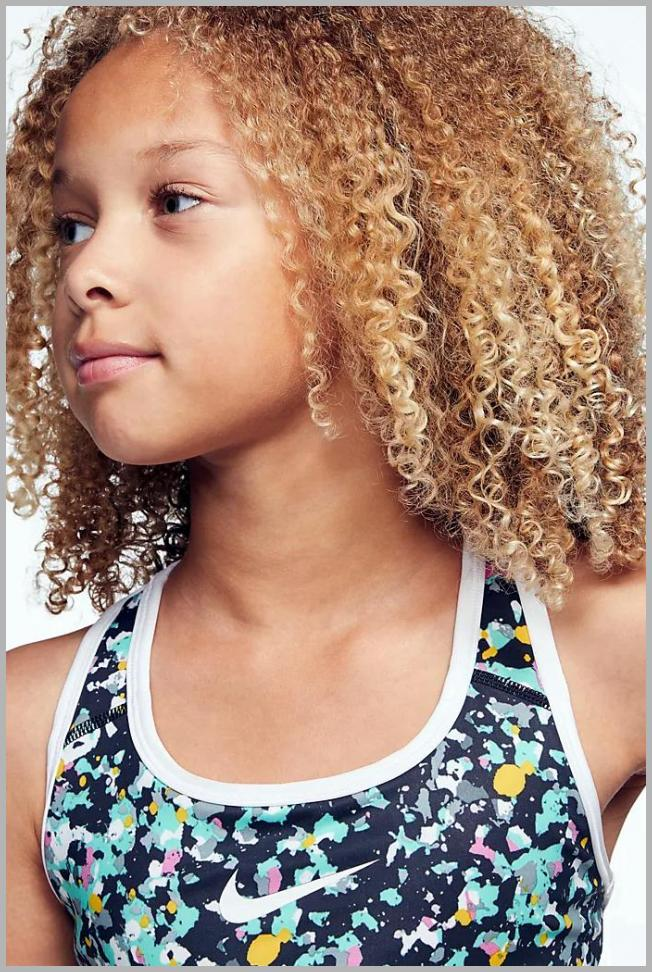 Nike Swoosh Big Girl`s Printed Reversible Sports Bra Price Rank ( 30  )