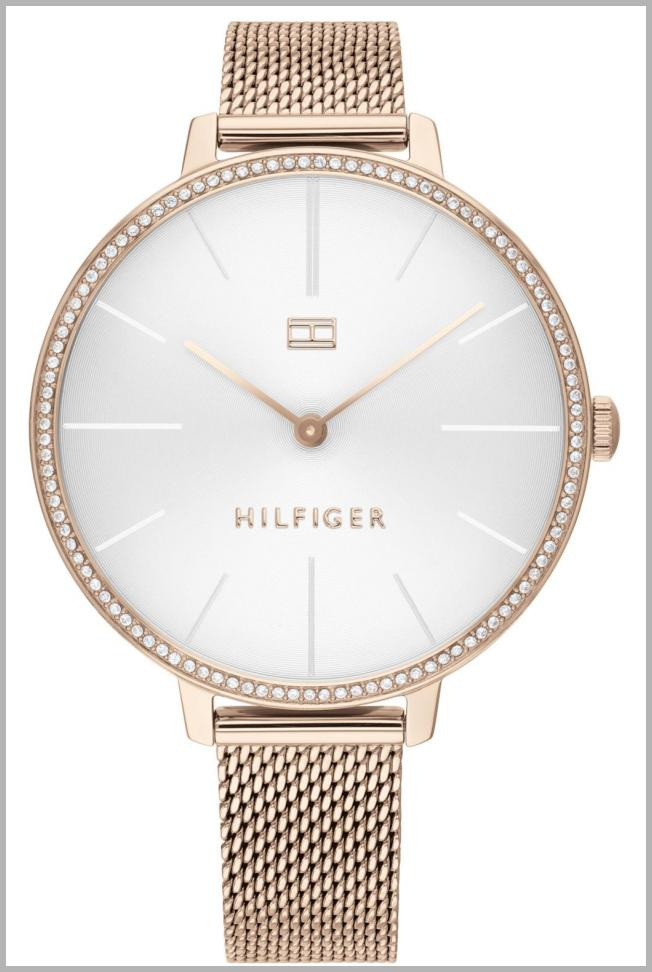 Tommy Hilfiger Women`s Rose Gold-Tone Stainless Steel Mesh Bracelet Watch 38mm, Created For Macy`s Price Integrity Rank ( 0 )