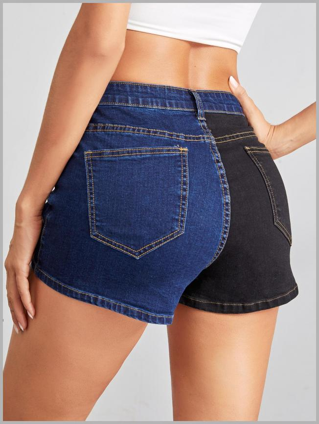 Two Tone Denim Shorts Without Belt Price Integrity Rank ( 0 )